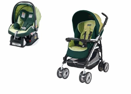 Peg Perego 2012 Primo Viaggio Car Seat and Pliko P3 Stroller in Myrto