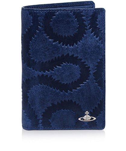Vivienne Westwood Man Uomo Portafoglio in pelle Belfast Card Blu Unica Taglia