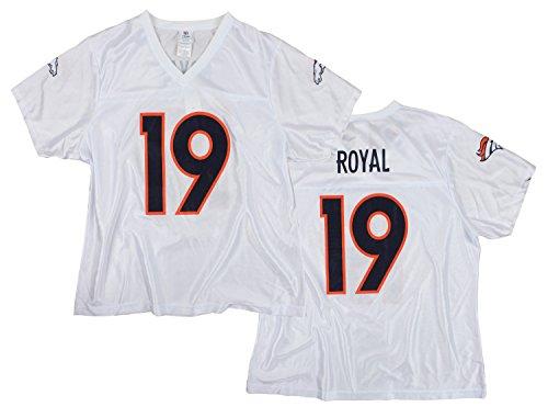 Denver Broncos NFL Eddie Royal #19 Women's Dazzle Jersey, White (Medium)