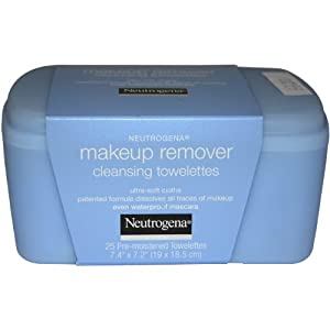 Neutrogena Makeup Remover Cleansing Towelettes, 25 Count