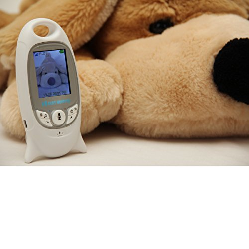 BabyVue Full Color Video Baby Monitor with Talk back, Temperature Monitoring, Night Vision, 8 Remote Control Lullabies, Feeding Alarm, Pet Monitor Dog Cat Animal Security Digital, 2.4 GHZ