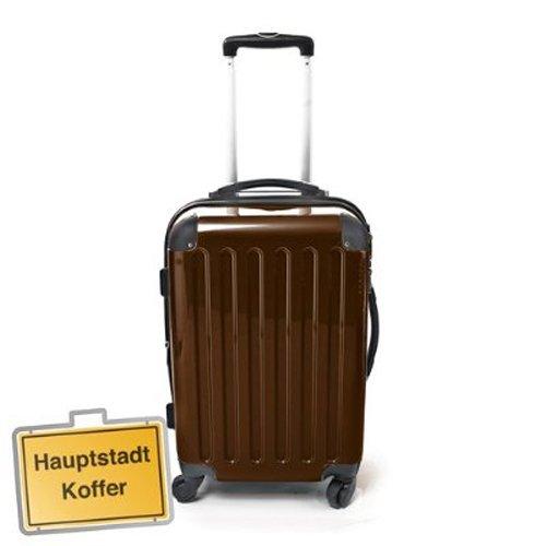 Hartschalen Koffer Braun Hochglanz max.87 L Reisetrolley
