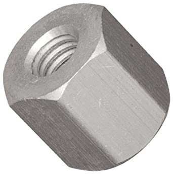 Hex Standoff, Aluminum, Plain Finish, Female, Right Handed, Inch
