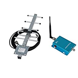 Phonetone 62dB 850MHz 3G GSM CDMA Cell Phone Signal Booster Repeater Amplifier Kit with Indoor Whip Antenna and Outdoor Yagi Antenna for Home/Office Use