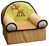 41l8vV9noqL. SL160  Lambs and Ivy Enchanted Forest Slip Cover Chair, Green