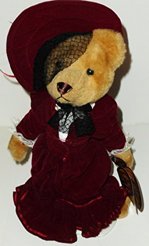 "1 X 12"" 1910's Gabrielle Brass Button Bear Plush - 1"