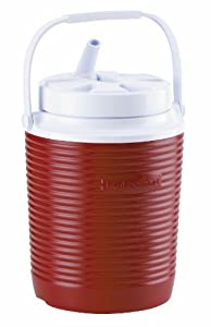 Rubbermaid Victory Jug Water Cooler, 1-gallon, Red