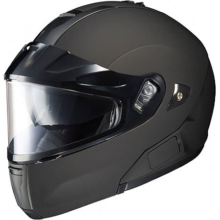 Hjc Solid Men'S Is-Max Btsn Bluetooth Snow Racing Snowmobile Helmet - Matte Black / X-Large