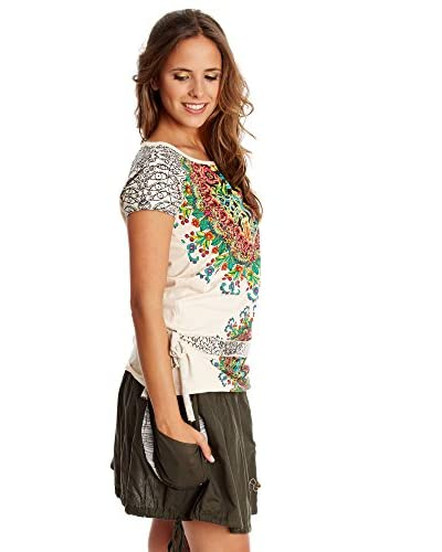 Desigual T-Shirt Manica Corta T09  Rep [Écru]