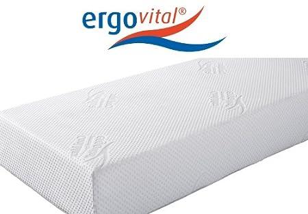 Ergovital Vitalwell Premium-Viscoschaum-Matratze mit Kaltschaumträger 100 Punkte im LGA-Test, Größen Matratzen:120 x 200 cm;Härtegrad Matratzen:H2