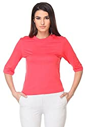 KAARYAH - Coral 3/4 th Sleeve Relaxed Fit Top