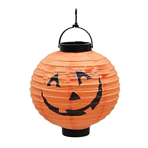 HUAYANG-Runde-Klapp-Krbis-Form-Papierlaterne-fr-Halloween-Festival-Partei-Dekor-Requisiten-Gelb