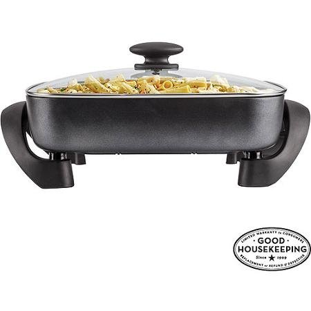 FARBERWARE Non-stick Electric Skillet, Black (22 Inch Frying Pan compare prices)