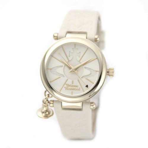 [ヴィヴィアンウエストウッド] Vivienne Westwood 腕時計 オーブモチーフ・ダイヤルのレディス・レザーストラップ・ウオッチ VV006WHWH [並行輸入品]