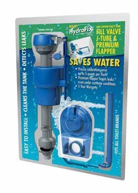 BlueSource HFX120 HydroFix HFX120 Water Saving Toilet Fill Valve And Flapper