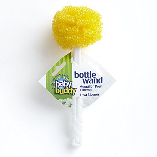 Baby Buddy Bottle Wand Magic Scrub, Yellow