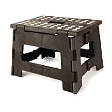 [Best price] Kids&#039 - Kikkerland Rhino Easy Fold Step Stool, Short, Black - toys-games