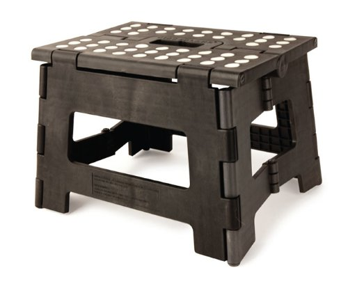 Stupendous Kikkerland Rhino Easy Fold Step Stool Short Black Unemploymentrelief Wooden Chair Designs For Living Room Unemploymentrelieforg