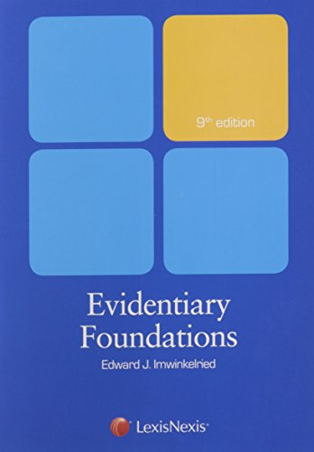Evidentiary Foundations (2014)
