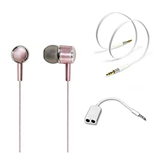 TrendyIndia Perfumed Handsfree Combo Offer For InFocus M535 Plus (Handsfree, Handsfree Splitter and Aux - Colours on Availbility)