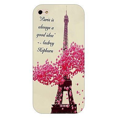 Eiffel Tower Phone Case [Customizable by Buyers] [Create Your Own Phone Case] Slim Fitted Hard Protector Cover for Samsung Galaxy S5