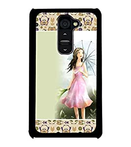 Fuson 2D Printed Girly Designer back case cover for LG G2 - D4281