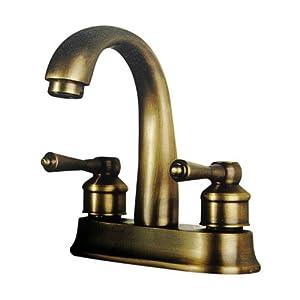 Simple Chic Antique Bronze Europeanstyle Bathroom Faucets Single Hole