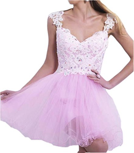 Ikerenwedding-Womens-Sweetheart-Flower-Lace-Short-Homecoming-Dress-with-Beads