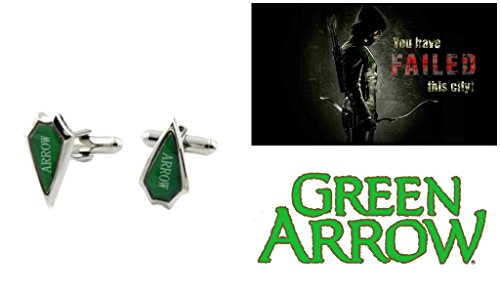 DC-Comics-Green-Arrow-Logo-with-Text-Arrow-TV-Series-Cufflinks-By-Athena