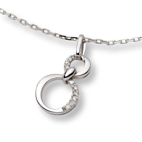Diamond Necklace, 18ct White Gold, Diamond Pendant, by Miore, M0802W