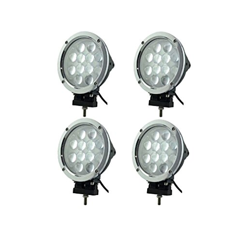 Generic 4Pcs 60W Round Cree Led Spot Flood Combo Work Light Offroad Replace