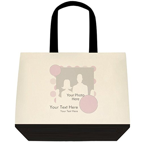 Vistaprint Purple Baby Announcement Two Tone Deluxe Tote Bags front-971435