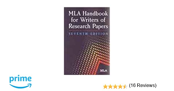 mla handbook for research papers This paper has been updated to follow the style guidelines in the mla handbook for writers of research papers, 7th ed (2009) mla sample analysis (rhetorical) paper 3 source: diana hacker (boston: bedford/st martin's, 2006.