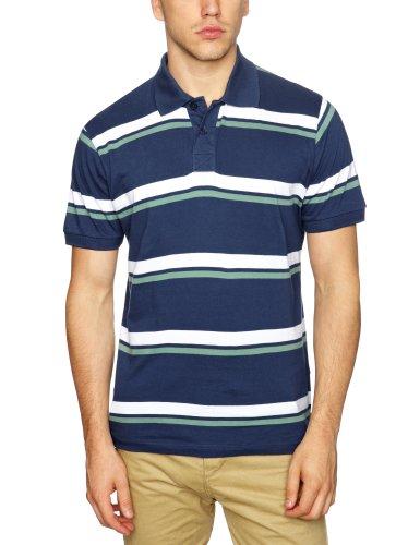 Selected Homme Jeans Phoenix Short Sleeve polo Shirt Men's T-Shirt Estate Blue X-Large