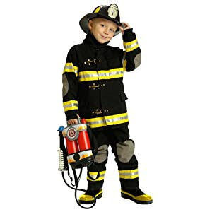 Child Black Junior Firefighter Costume