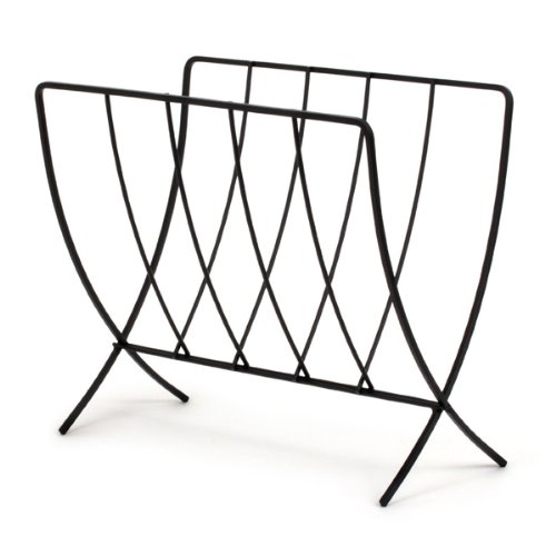 Spectrum Diversified 37210 Seville Magazine Rack, Black