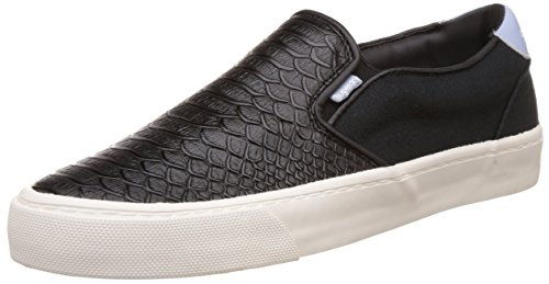 Superdry Dion Slip On, Scarpe da Corsa Donna, Nero (Black Pythonvps), 38 EU