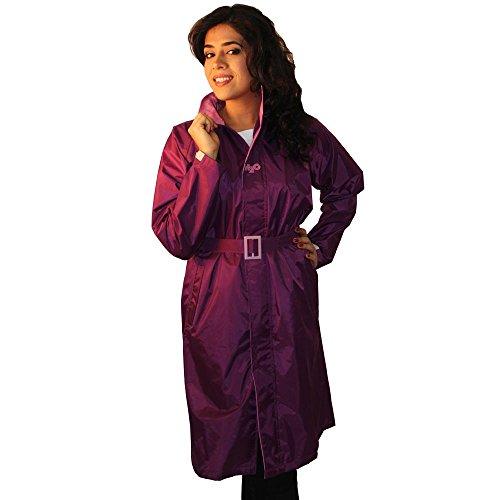 Prrem's Long Purple Rain Trench Jacket Coat for Women in Size 3XL
