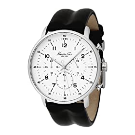 Kenneth Cole New York Men's KC1568 Iconic Chronograph Black Leather Watch: Kenneth Cole: Watches