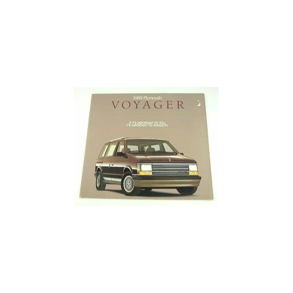 89 Plymouth VOYAGER Van BROCHURE Base SE LE Grand