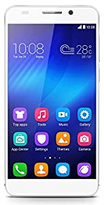 Honor 6 Smartphone (5 inch, Touchscreen, Octa-Core, 3GB RAM, 16GB ROM, 13MP rear camera, 5MP front camera, LTE CAT6, Android 4.4, Emotion UI 2.3) White