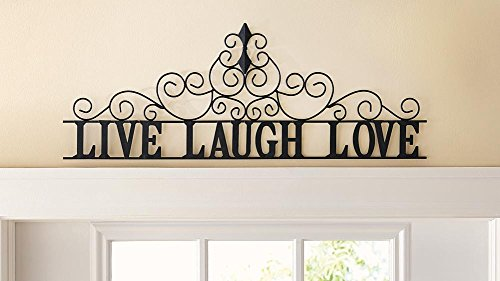 Scrolling Live Laugh Love Metal Wall Art (Over Door Decor compare prices)