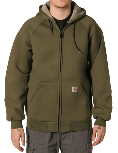 Carhartt 100465 Car-Lux Sweatshirt Green Mens Hooded Top
