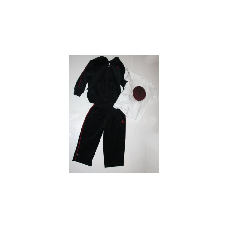 7dd4939224c9d7 Baby 3 Piece Sweatsuit Jacket Pants T shirt Size 24 Months Black on ...