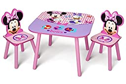 Delta Children Minnie Mouse Kids\' 3 Piece Table and Chair Set