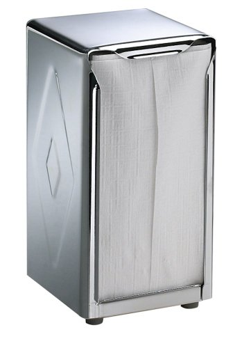 San Jamar H900X Stainless Steel Tallfold Table-Top Napkin Dispenser, 3-3/4