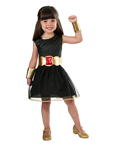 Deluxe Kid's Girls Black Widow Costume Dress