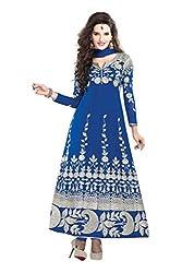 Nirali Women's Georgette Salwar Kameez Semistitched Dress Material - Free Size (Blue)