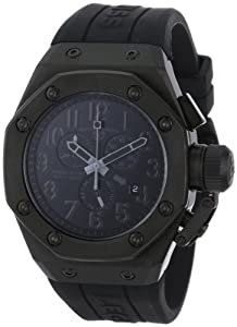 Swiss Legend Men's 10541-BLK Trimix Diver Black Rubber Watch