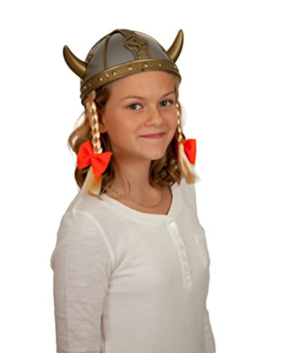 Plastic Female Viking Oktoberfest Hat